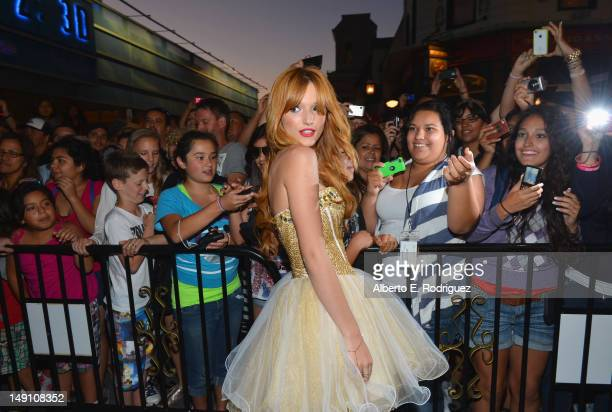Actress Bella Thorne attends the Staples DoSomethingorg Bella Thorne Party for the 5th Staples for Students School Supply Drive benefiting students...