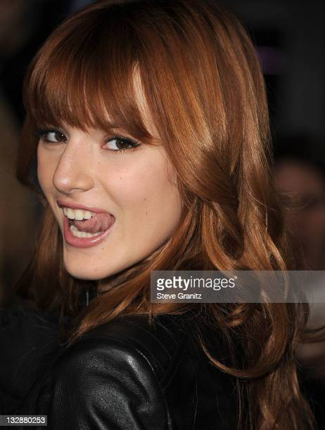 Actress Bella Thorne attends The Twilight Saga Breaking Dawn Part 1 at Nokia Theatre LA Live on November 14 2011 in Los Angeles California