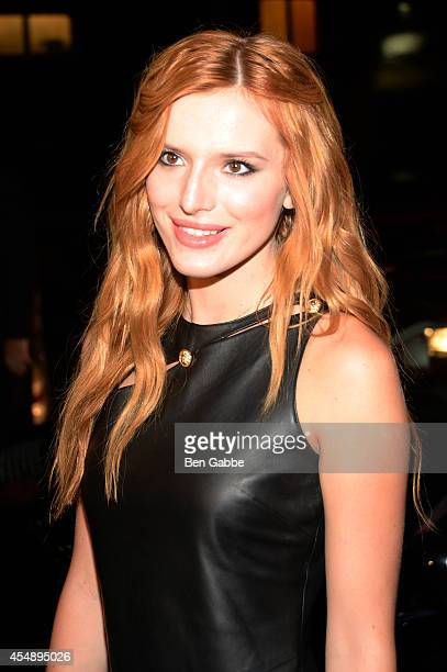 Actress Bella Thorne attends the Versus Versace fashion show during MercedesBenz Fashion Week Spring 2015 at Metropolitan West on September 7 2014 in...