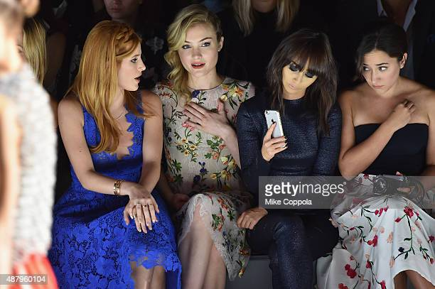 Actress Bella Thorne Gillian Jacobs Cara Santana and Zelda Rae Williams attend the Monique Lhuillier Spring 2016 during New York Fashion Week The...