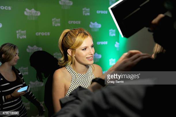 Actress Bella Thorne is interviewed at the Crocs Funway Event on June 23 2015 in New York City