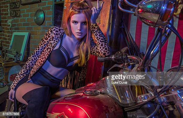 Actress Bella Thorne is photographed for VVV Magazine on January 8 2016 in Los Angeles California