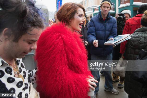 Actress Bella Thorne is sighted during the Sundance Film Festival on January 22 2018 in Park City Utah