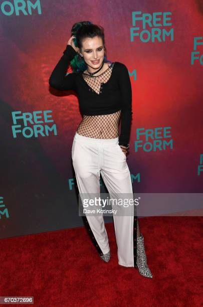 Actress Bella Thorne of 'Famous In Love' attends Freeform 2017 Upfront at Hudson Mercantile on April 19 2017 in New York City