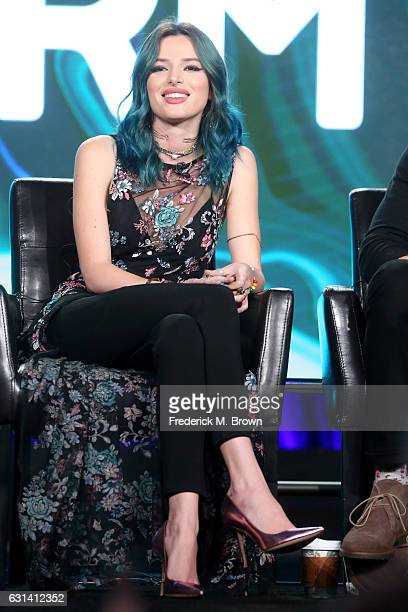 Actress Bella Thorne of the television show 'Famous In Love' speaks onstage during the DisneyABC portion of the 2017 Winter Television Critics...