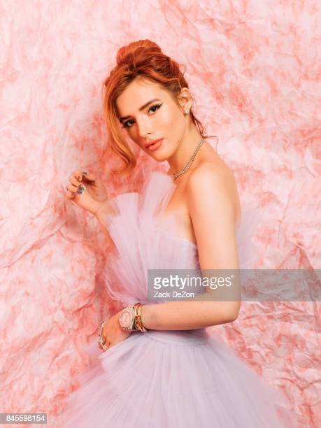 Actress Bella Thorne poses for a portrait during the Daily Front Row's Fashion Media Awards at Four Seasons Hotel New York Downtown on September 8...