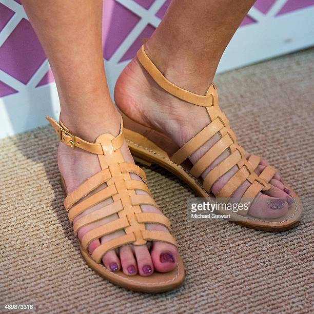 Actress Bella Thorne shoe detail attends the Lilly Pulitzer for Target Launch at Bryant Park Grill on April 15 2015 in New York City