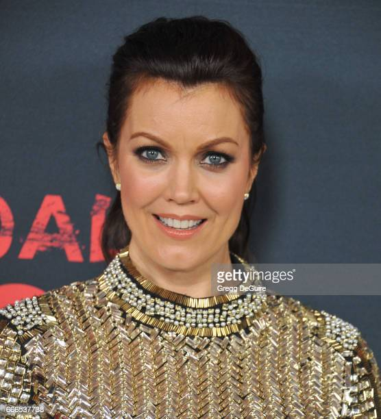 Actress Bellamy Young arrives at ABC's Scandal 100th Episode Celebration at Fig Olive on April 8 2017 in West Hollywood California