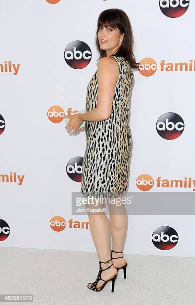 Actress Bellamy Young arrives at Disney ABC Television Group's 2015 TCA Summer Press Tour at the Beverly Hilton Hotel on August 4 2015 in Beverly...