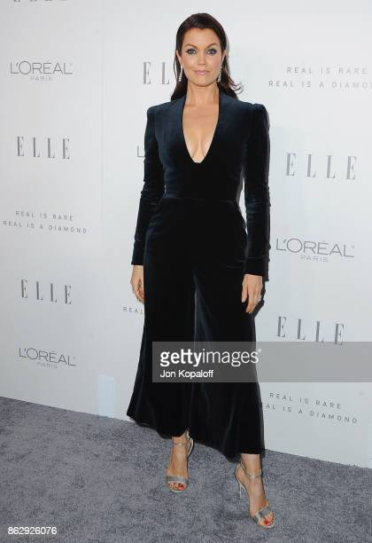 Actress Bellamy Young arrives at ELLE's 24th Annual Women in Hollywood Celebration at Four Seasons Hotel Los Angeles at Beverly Hills on October 16...