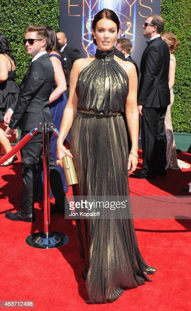 Actress Bellamy Young arrives at the 2014 Creative Arts Emmy Awards at Nokia Theatre LA Live on August 16 2014 in Los Angeles California