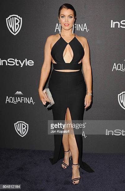 Actress Bellamy Young arrives at the 2016 InStyle And Warner Bros 73rd Annual Golden Globe Awards PostParty at The Beverly Hilton Hotel on January 10...