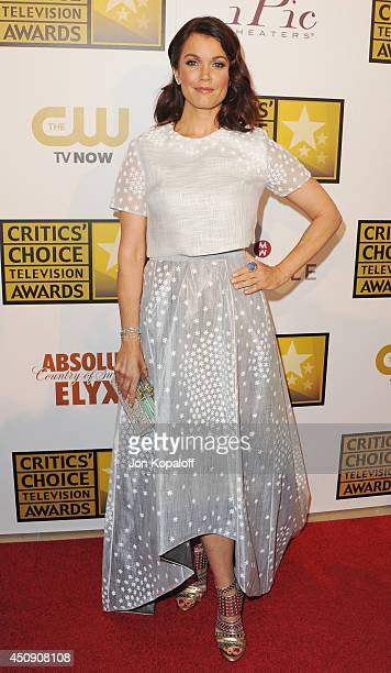 Actress Bellamy Young arrives at the 4th Annual Critics' Choice Television Awards at The Beverly Hilton Hotel on June 19 2014 in Beverly Hills...