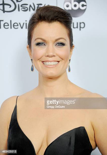 Actress Bellamy Young arrives at the ABC/Disney TCA Winter Press Tour party at The Langham Huntington Hotel and Spa on January 17 2014 in Pasadena...