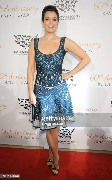 Actress Bellamy Young arrives at The Humane Society Of The United States 60th anniversary benefit gala at The Beverly Hilton Hotel on March 29 2014...