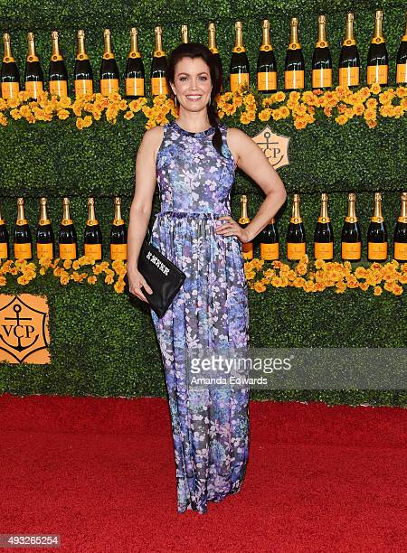 Actress Bellamy Young arrives at the SixthAnnual Veuve Clicquot Polo Classic Los Angeles at Will Rogers State Historic Park on October 17 2015 in...
