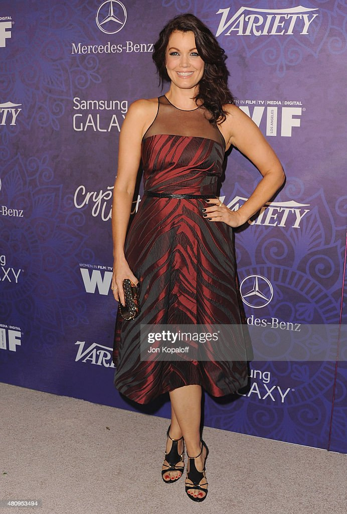 Actress Bellamy Young arrives at Variety And Women In Film Annual Pre-Emmy Celebration at Gracias Madre on August 23, 2014 in West Hollywood, California.
