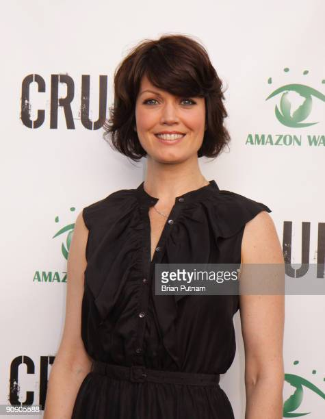 Actress Bellamy Young arrives for the screening of the film 'CRUDE' at Harmony Gold Theatre on September 17 2009 in Los Angeles California