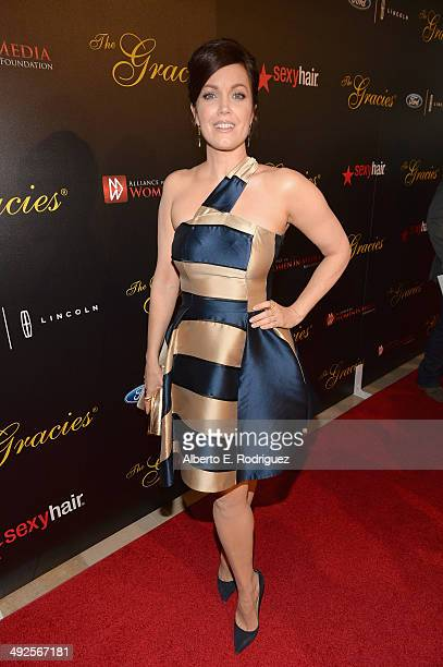 Actress Bellamy Young arrives to the 39th Gracie Awards Gala at The Beverly Hilton Hotel on May 20 2014 in Beverly Hills California