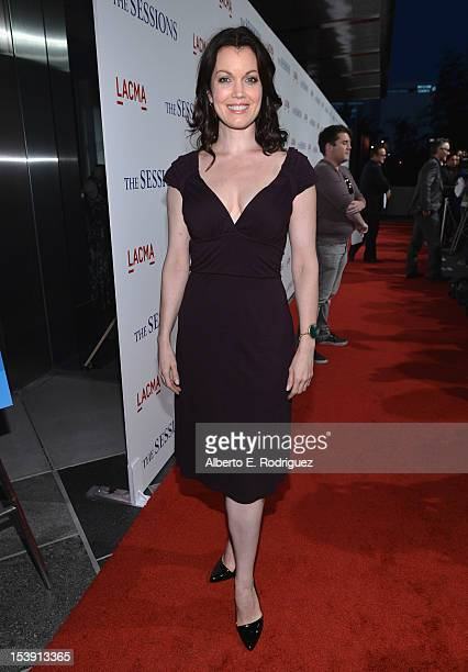 Actress Bellamy Young arrives to the Los Angeles premiere of Fox Searchlight Pictures' 'The Sessions' held at the Bing Theatre at LACMA on October...