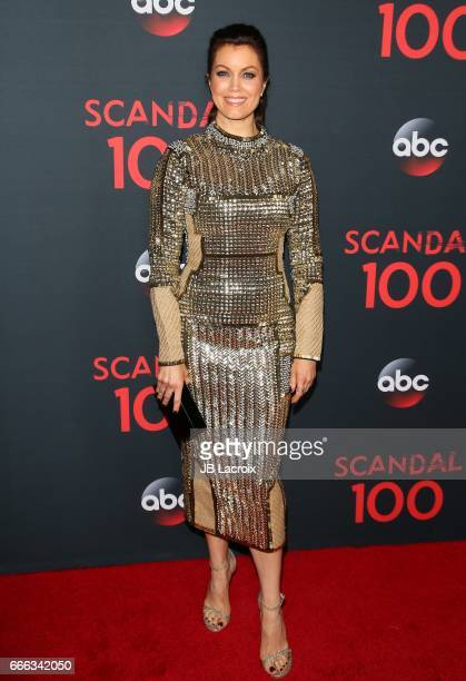 Actress Bellamy Young attends ABC's 'Scandal' 100th episode celebration on April 8 2017 in West Hollywood California