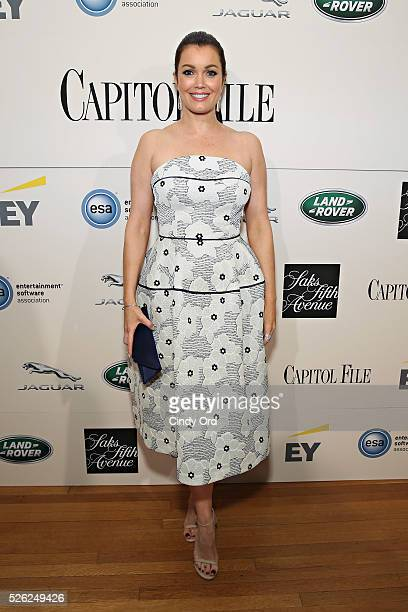 Actress Bellamy Young attends as Jaguar Land Rover sponsor Capitol File's White House Correspondents' Dinner Party on April 30 2016 in Washington DC