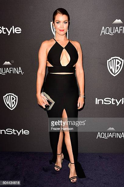 Actress Bellamy Young attends InStyle and Warner Bros 73rd Annual Golden Globe Awards PostParty at The Beverly Hilton Hotel on January 10 2016 in...