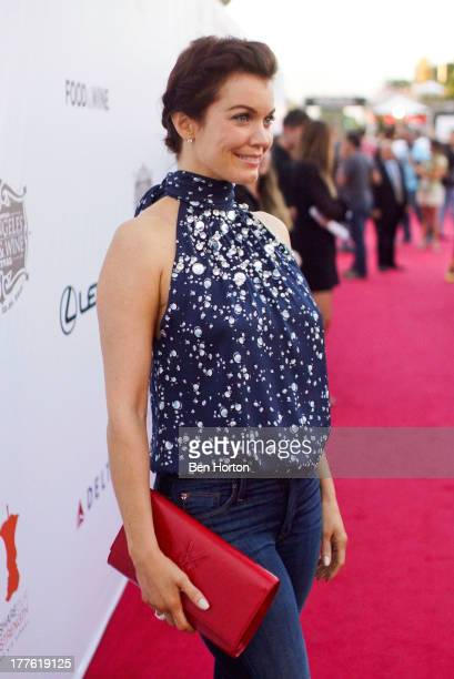 Actress Bellamy Young attends LEXUS Live on Grand hosted by Curtis Stone at the third annual Los Angeles Food Wine Festival on August 24 2013 in Los...