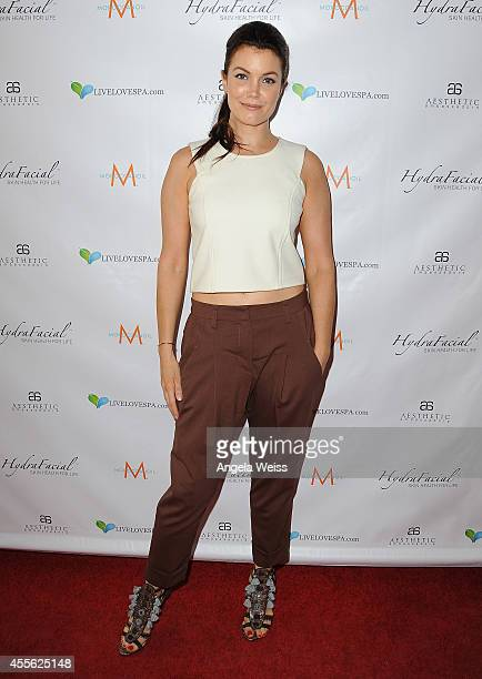 Actress Bellamy Young attends SPLASH an Exclusive Media Event by Live Love Spa at the Hyatt Regency Century Plaza on September 17 2014 in Century...
