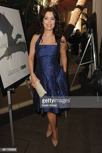 Actress Bellamy Young attends the 14th annual AFI Awards Luncheon at the Four Seasons Hotel Beverly Hills on January 10 2014 in Beverly Hills...