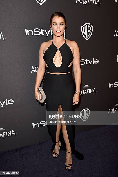 Actress Bellamy Young attends The 2016 InStyle And Warner Bros 73rd Annual Golden Globe Awards PostParty at The Beverly Hilton Hotel on January 10...