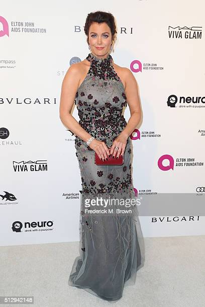 Actress Bellamy Young attends the 24th Annual Elton John AIDS Foundation's Oscar Viewing Party on February 28 2016 in West Hollywood California