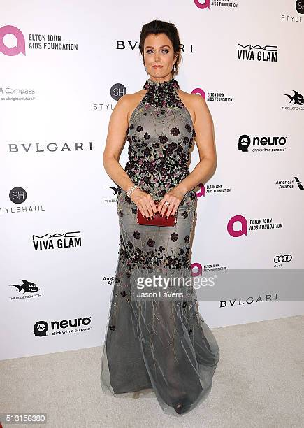 Actress Bellamy Young attends the 24th annual Elton John AIDS Foundation's Oscar viewing party on February 28, 2016 in West Hollywood, California.