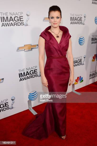 Actress Bellamy Young attends the 44th NAACP Image Awards at The Shrine Auditorium on February 1 2013 in Los Angeles California