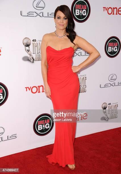 Actress Bellamy Young attends the 45th NAACP Image Awards at Pasadena Civic Auditorium on February 22 2014 in Pasadena California