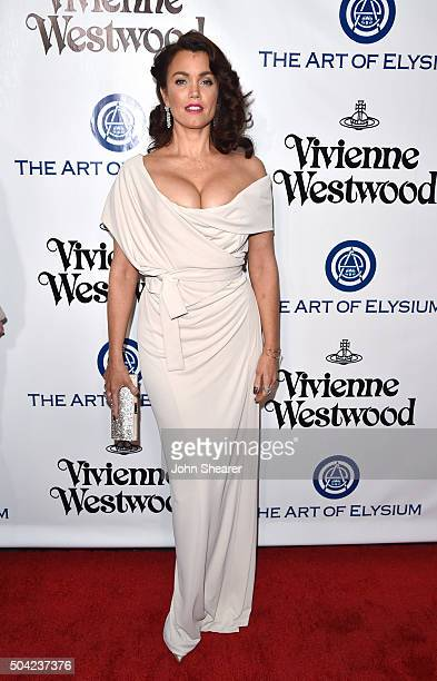 Actress Bellamy Young attends The Art of Elysium 2016 HEAVEN Gala presented by Vivienne Westwood Andreas Kronthaler at 3LABS on January 9 2016 in...