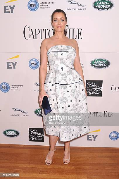 Actress Bellamy Young attends the Capitol File's WHCD Welcome Reception at British Ambassador's Residence on April 29 2016 in Washington DC