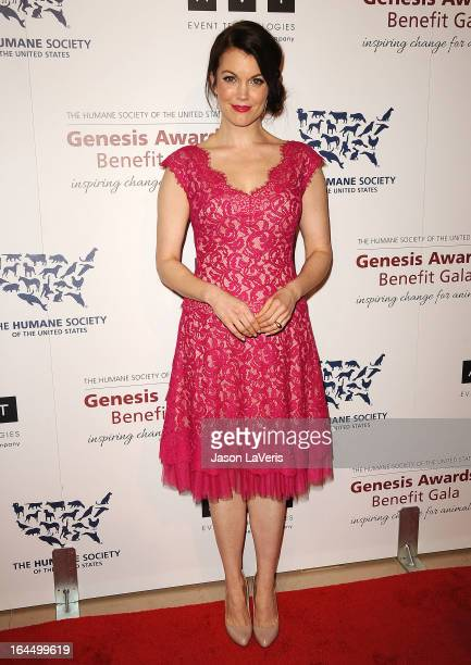 Actress Bellamy Young attends The Humane Society's 2013 Genesis Awards benefit gala at the Beverly Hilton Hotel on March 23, 2013 in Beverly Hills,...