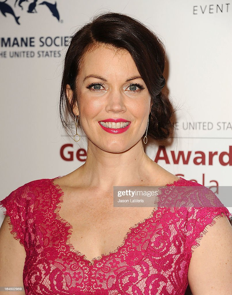 Actress Bellamy Young attends The Humane Society's 2013 Genesis Awards benefit gala at the Beverly Hilton Hotel on March 23, 2013 in Beverly Hills, California.