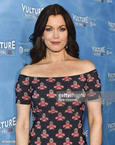 Actress Bellamy Young attends the Scandal Final Season Panel at Vulture Festival Los Angeles at Hollywood Roosevelt Hotel on November 18 2017 in...