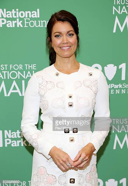 Actress Bellamy Young attends the Trust for the National Mall's Ninth Annual Benefit Luncheon in West Potomac Park on April 28 2016 in Washington DC