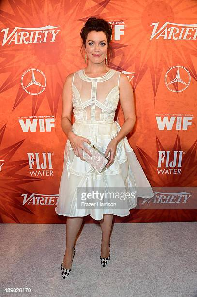 Actress Bellamy Young attends the Variety and Women in Film Annual PreEmmy Celebration at Gracias Madre on September 18 2015 in West Hollywood...