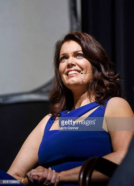 """Actress Bellamy Young speaks during the """"Scandal-ous!"""" event hosted by the Smithsonian Associates with Shonda Rhimes and the cast of ABC's Scandals..."""