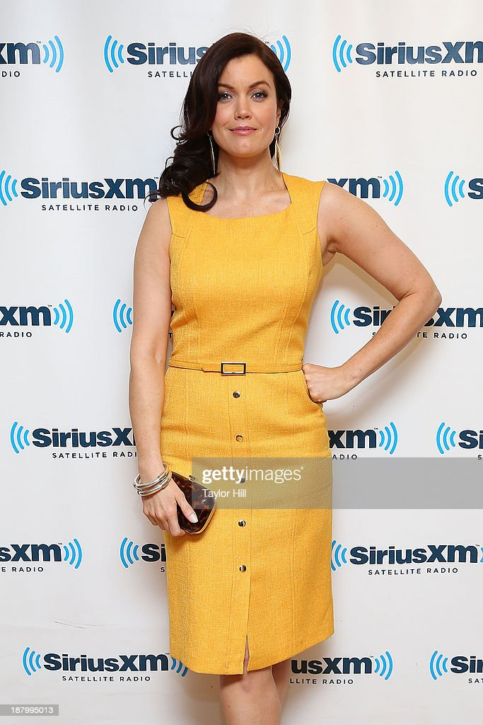 Actress Bellamy Young visits the SiriusXM Studios on November 14, 2013 in New York City.
