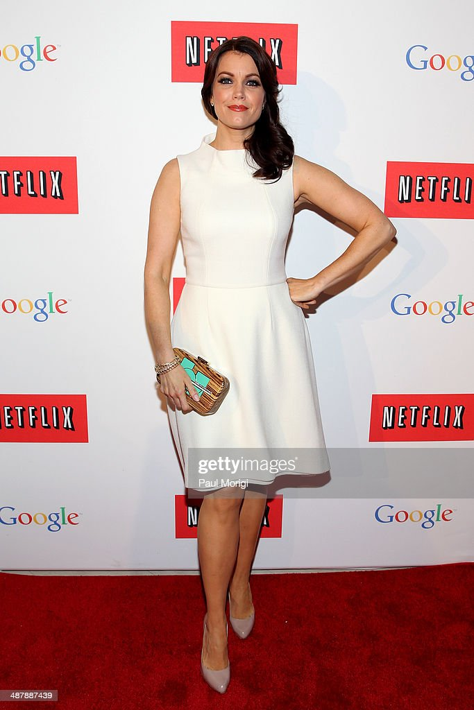 Actress Bellamy Young walks the red carpet at Google/Netflix White House Correspondent's Weekend Party at United States Institute of Peace on Friday, May 2, 2014 in Washington, DC.