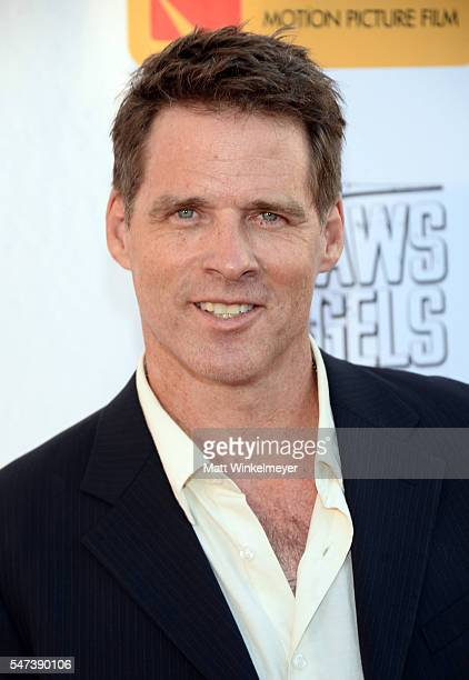 """Actress Ben Browder attends the premiere of Momentum Pictures' """"Outlaws And Angels"""" at Ahrya Fine Arts Movie Theater on July 12, 2016 in Beverly..."""