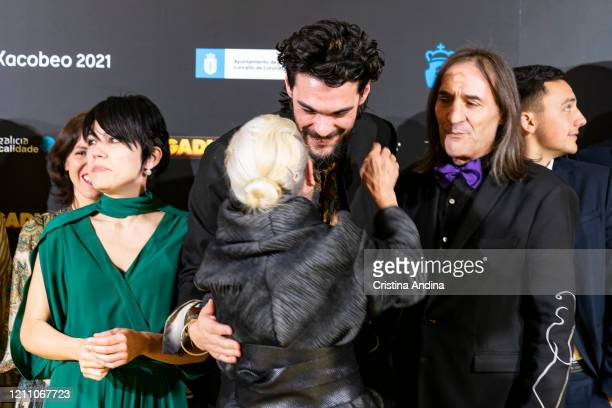 Actress Benedicta Sánchez and director Oliver Laxe attend the Mestre Mateo Awards in A Coruna on March 07 2020 in A Coruna Spain