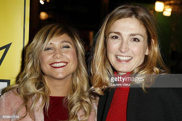 Actress Berangere Krief and Producer Julie Gayet attend Fete du Court Metrage Opening Ceremony at Carreaux du Temple on December 15 2016 in Paris...