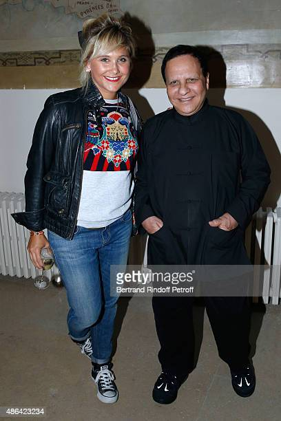 Actress Berengere Krief and Fashion Designer Azzedine Alaia attend the 'World Press Photo 2015' Exhibition Opening Party held at Galerie Azzedine...