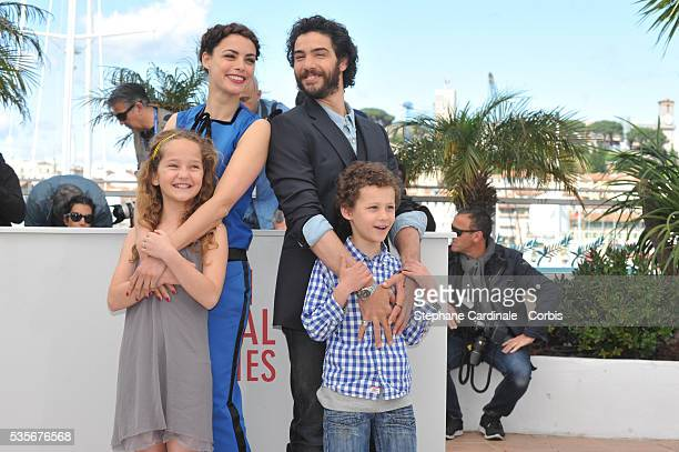 Actress Berenice Bejo, Actress Jeanne Jestin, Actor Tahar Rahim and actor Elyes Aguis attend Le Passe photo call during the 66th Cannes International...